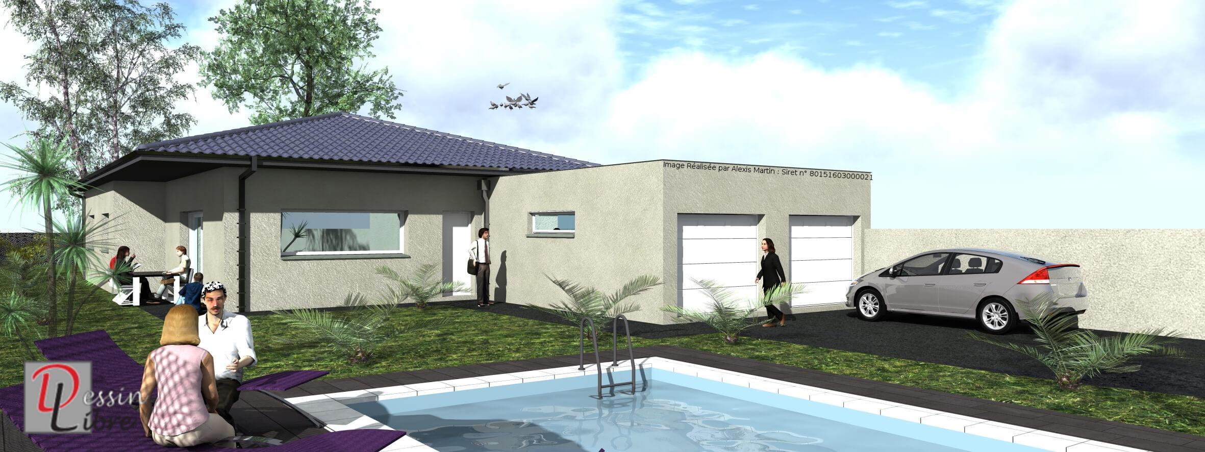 Maison moderne type t5 de 138 m rieumes 31 for Maison moderne 31